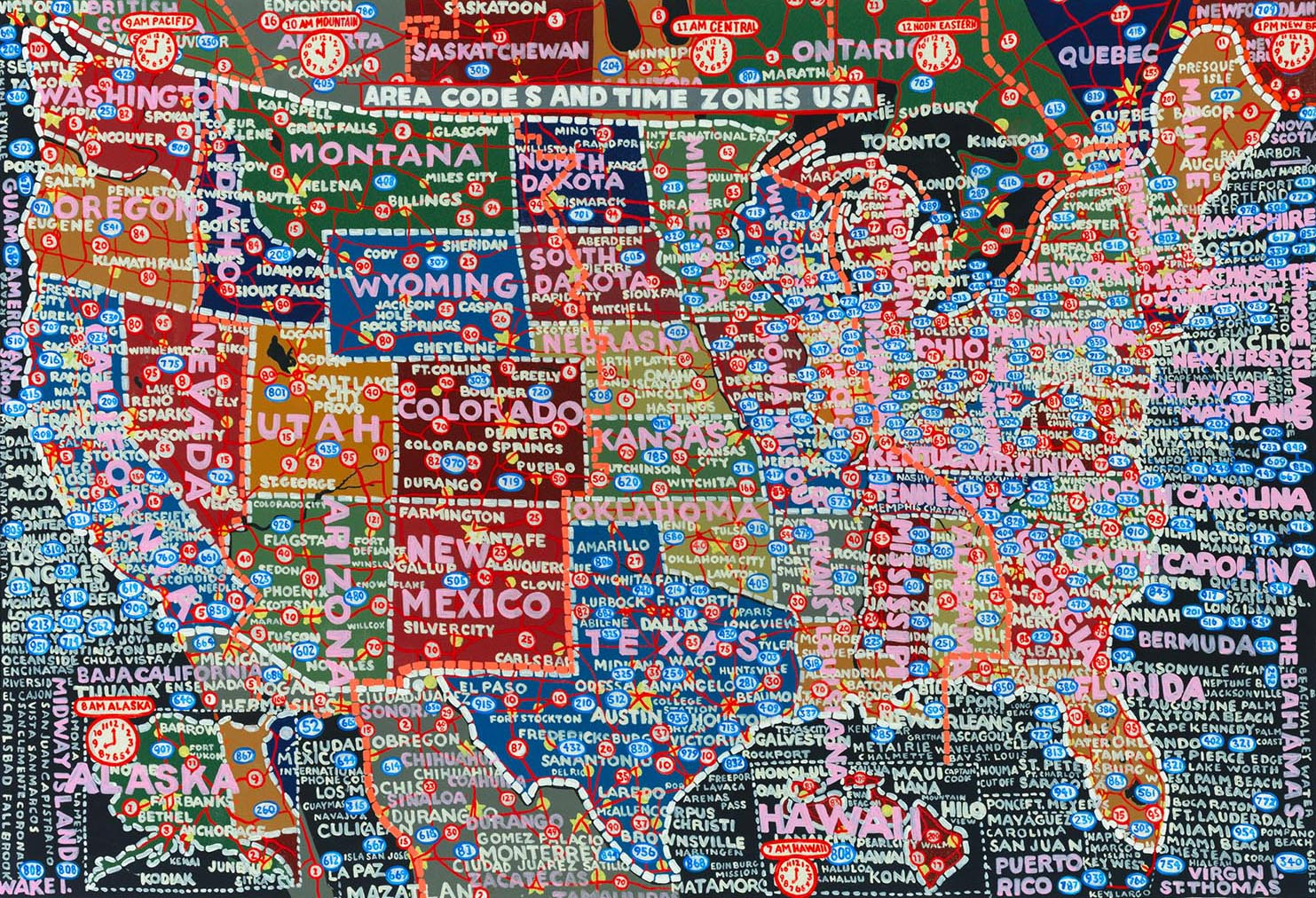 Paula Schers HandPainted SemiAccurate Maps Of America CityLab - Accrate map of us